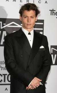 Johnny Depp at the Actors Fund of America's star studded gala