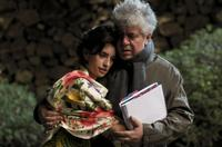 Penelope Cruz and Director Pedro Almodovar on the set of