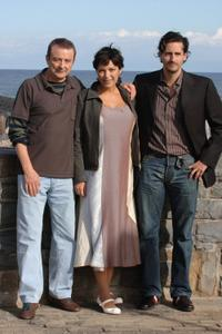 Juan Diego, Cristina Plazas and Juan Diego Botto at the photocall for