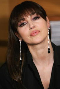 Monica Bellucci launches her new range of earrings and necklaces for Cartier at Emirates Towers in Dubai.