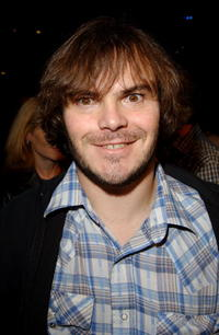 """Jack Black at the premiere of """"Jackass the Movie"""" in Hollywood."""