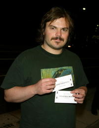 """Jack Black at a screening of """"Fahrenheit 9/11"""" in Beverly Hills."""