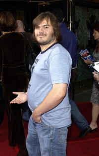 """Jack Black at the premiere of """"Anchorman"""" in Westwood, California."""