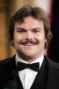 Jack Black at MTV's Total Request Live in New York City.