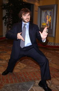 """Jack Black at the premiere of """"Shallow Hal"""" in Los Angeles, CA."""