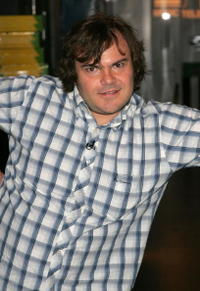 Jack Black on MTV's Total Request Live in New York City.