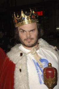 """Jack Black at the premiere of """"Tenacious D In: The Pick of Destiny"""" in Hollywood."""