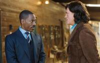 Eddie Murphy as Evan Danielson and Thomas Haden Church as Johnny Whitefeather in