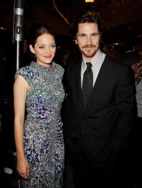 Marion Cotillard and Christian Bale at the after party of the premiere of