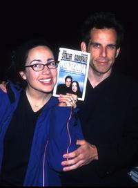 An undated file photo of Janeane Garofalo and Ben Stiller.