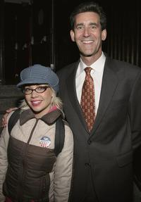 Janeane Garofalo and John Sinton at the Air America Radio Launch Party.