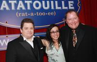 Janeane Garofalo, Patton Oswalt and John Lasseter at the premiere of