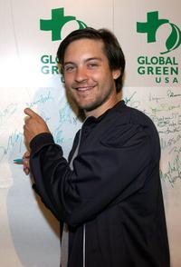 Tobey Maguire at the Rock The Earth Summit Party.