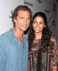 Matthew McConaughey and Camila at the premiere of