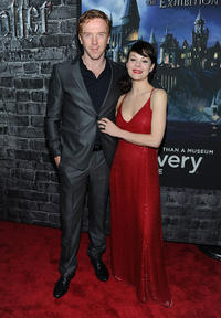 Damian Lewis and Helen McCrory at the grand opening of Harry Potter: The Exhibition at Discovery Times Square Exposition Center in New York.