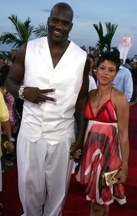 Shaquille O'Neal and Shaunie Nelson at the 2004 MTV Video Music Awards.