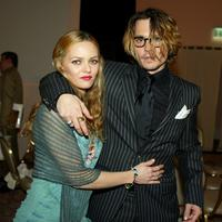Vanessa Paradis and Johnny Depp at the 9th Annual Critic's Choice Awards.