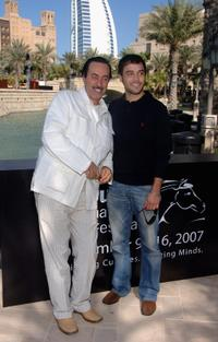 Hichem Rostom and Assad Bouab at the photocall of
