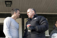 Mark Ruffalo and director Brian Goodman on the set of