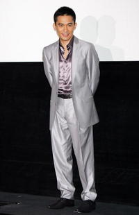 """Tony Leung at the promotion of the film """"Confession of Pain"""" in Tokyo, Japan."""