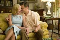 Kate Winslet as April Wheeler and Leonardo DiCaprio as Frank Wheeler in