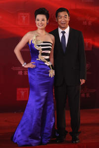 Yuan Li and Zhang Guoli at the opening ceremony of 14th Shanghai International Film Festival in China.