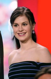 Anna Paquin at the MTV's Total Request Live.