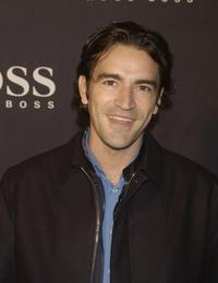 Ben Chaplin at the celebration of a new Hugo Boss store.