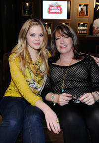 Dreama Walker and Ann Dowd at the Stella Artois Lounge by Ally B in Utah.