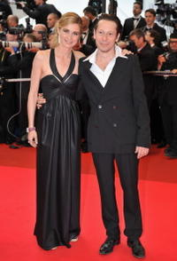Anne Consigny and Mathieu Amalric at the premiere of