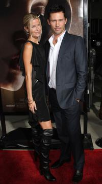Jeffrey Donovan and Guest at the premiere of