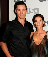 Jeffrey Donovan and Gabrielle Anwar at the USA Network Upfront.