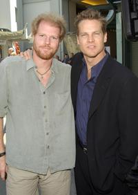 Noah Emmerich and Brian Van Holt at the hand and footprint ceremony.