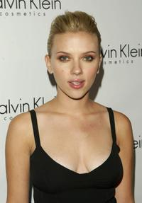 Scarlett Johansson at the launch Party for Calvin Klein's new fragrance Eternity Moment.
