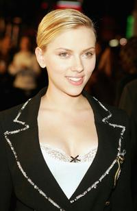 Scarlett Johansson at the Hollywood premiere of