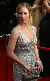 Christina Applegate at the red carpet of the 14th Screen Actors Guild Awards at the Shine Auditorium.