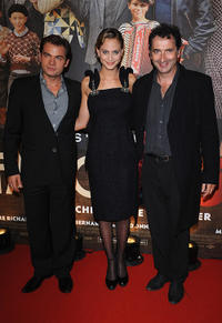 Clovis Cornillac, Nora Arnezeder and Francois Morel at the premiere of