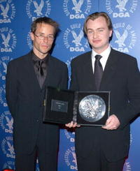 Guy Pearce and Christopher Nolan at the 54th Annual DGA Awards.