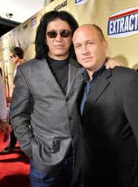 Gene Simmons and Mike Judge at the premiere of