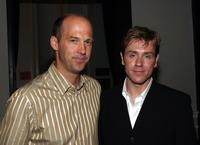 Ron Eldard and Anthony Edwards at the Special Performance of Embedded at the Public Theater.