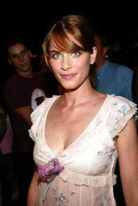 Amanda Peet at the Manhattan Armory during the Sixth Mercedes-Benz Fashion Week in N.Y.