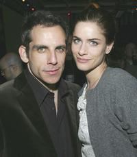 Ben Stiller and Amanda Peet at after party of the opening night of