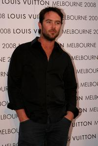 Sullivan Stapleton at the official re-launch of the Louis Vuitton store.