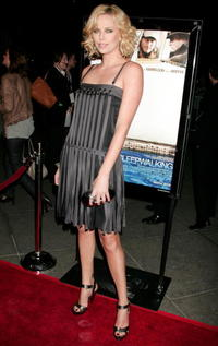 Actress/producer Charlize Theron at the Hollywood premiere of