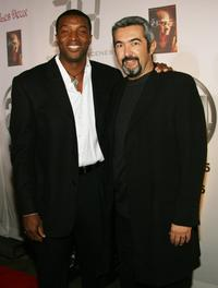 Roger R. Cross and Director Jon Cassar at the