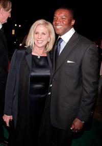 Director Callie Khouri and Roger R. Cross at the premiere of