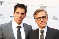 Eli Roth and Christoph Waltz at the Cinema Society and Hugo Boss screening of