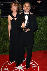 Judith Holste and Christoph Waltz at the 2010 Vanity Fair Oscar party.