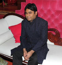 A.R. Rahman at the press conference for his upcoming tour at K Lounge.