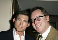 Lee Evans and Jim Moir at the South Bank Show Awards.